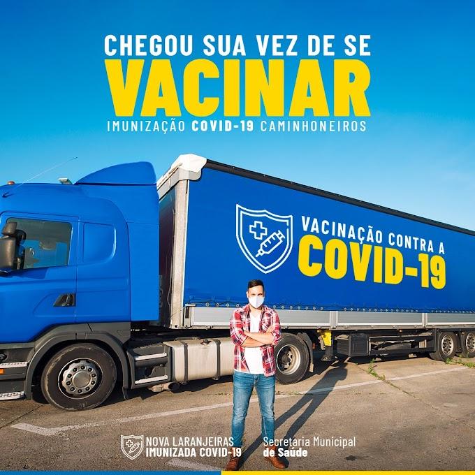 Nova Laranjeiras: Prefeitura informa vacinação dos caminhoneiros