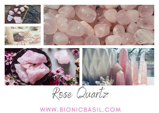 Colouring with Cats #114 ©BionicBasil® Crystal of The Week - Rose Quartz