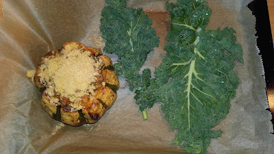 stuffed squash with kale