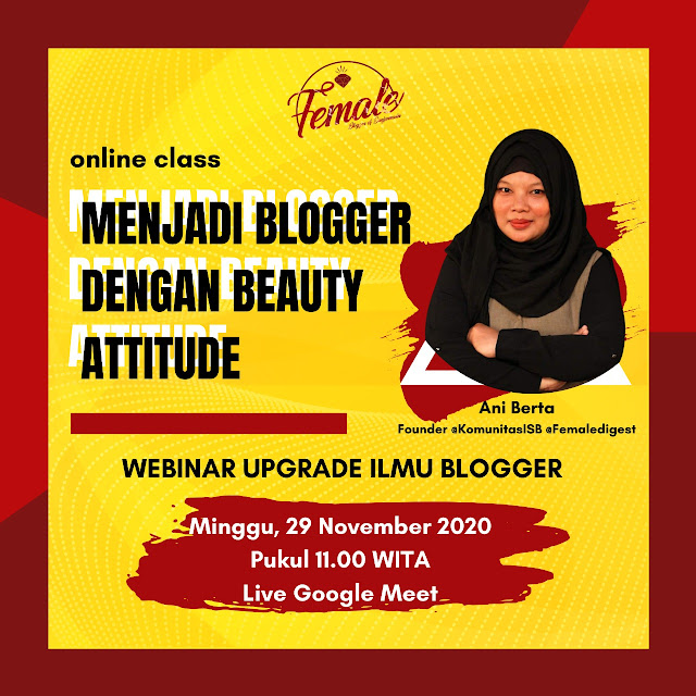 menjadi blogger dengan beauty attitude