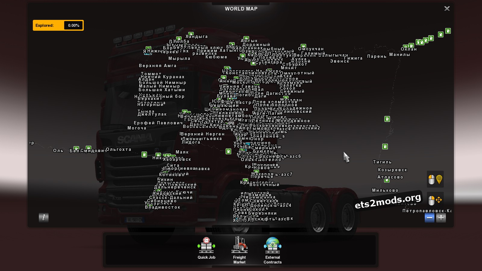 The harsh russian baikal r3 map ets2 ets2 mods for The russian mod