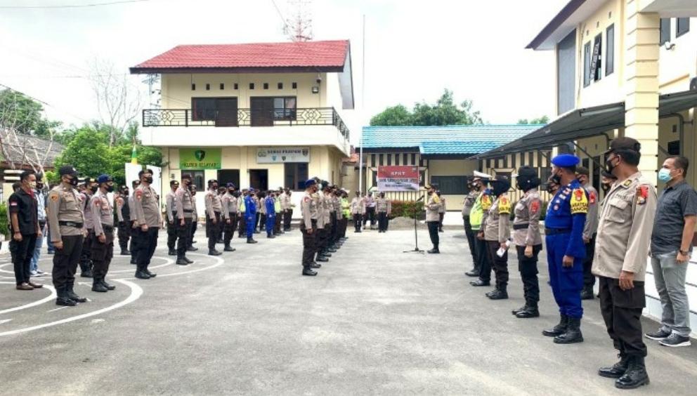 272 Personil Pengamanan Tempat Pemungutan Suara Mulai Diterjunkan di Selayar
