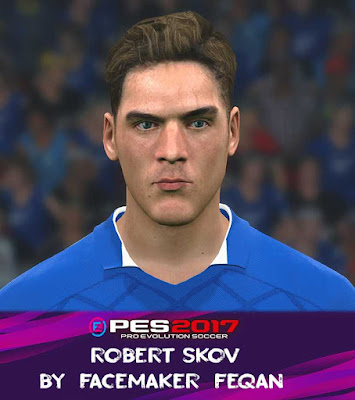 PES 2017 Robert Skov Face by Feqan