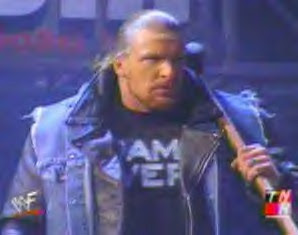 Triple H denim leather jacket sledgehammer