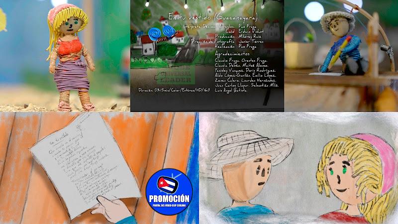Pao Fraga - ¨En tu vestido (Guacanayara)¨ - Videoclip Animado - Director: Pao Fraga. Portal Del Vídeo Clip Cubano. Música tradicional cubana. Cuba.