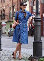 jeansowa szmizjerka stylizacje
