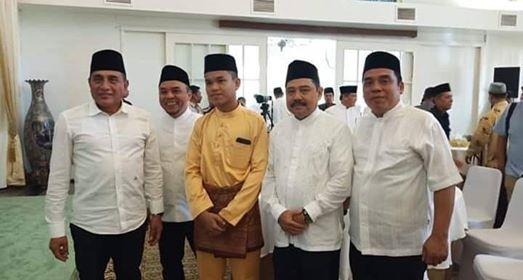 H.Andi Suhaimi Dalimunthe dan Gubsu Berangkatkan Al-Azmi Hasibuan STQN XXV