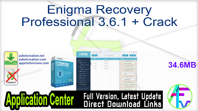 Enigma Recovery Professional 3.6.1 + Crack