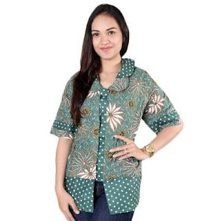 Model Kemeja Batik Wanita Lengan Panjang Semi Formal