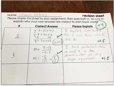 Need a simple way for your high school math students to complete test corrections? Do test redos and revisions take forever for you to grade? This is the simple math test corrections template that I use. It is a free pdf download.