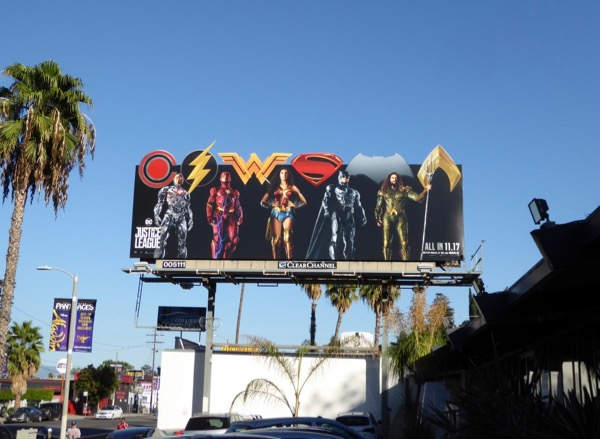 Justice League special extension billboard