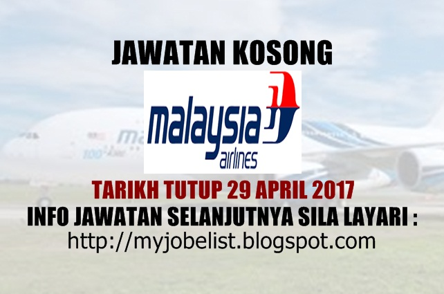 Jawatan Kosong Malaysia Airlines Berhad April 2017