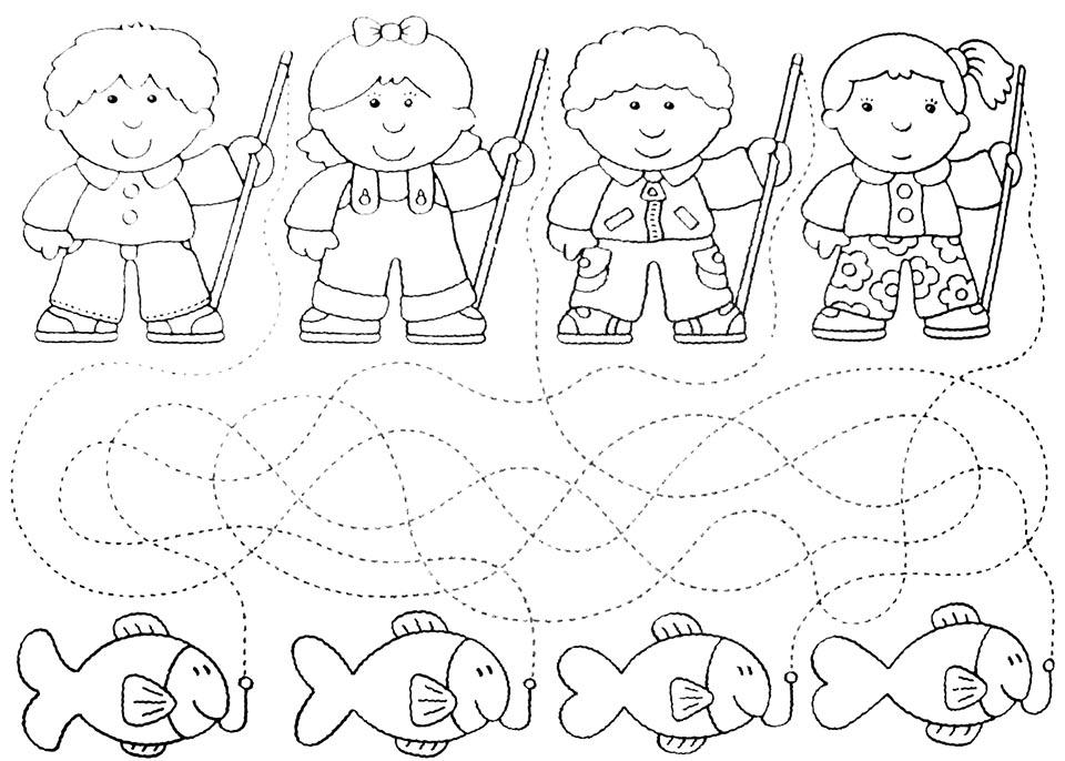 delinear camino para niños