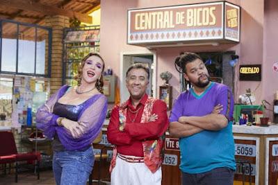 Marisa Orth, Maurício Manfrini e Babu Santana - Créditos: Juliana Coutinho / Divulgação Multishow