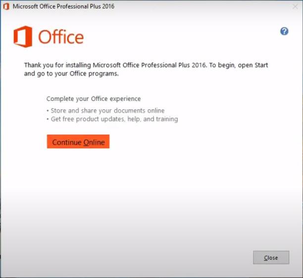 Hướng dẫn cài đặt Microsoft Office 2016 Professional Plus e