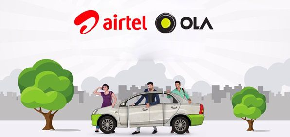 OLA Cabs partnered with Airtel payment bank services for rides