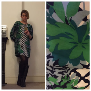 Boden dress with trellis print