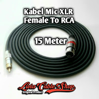 Kabel Mic XLR  15 Meter RCA to Female