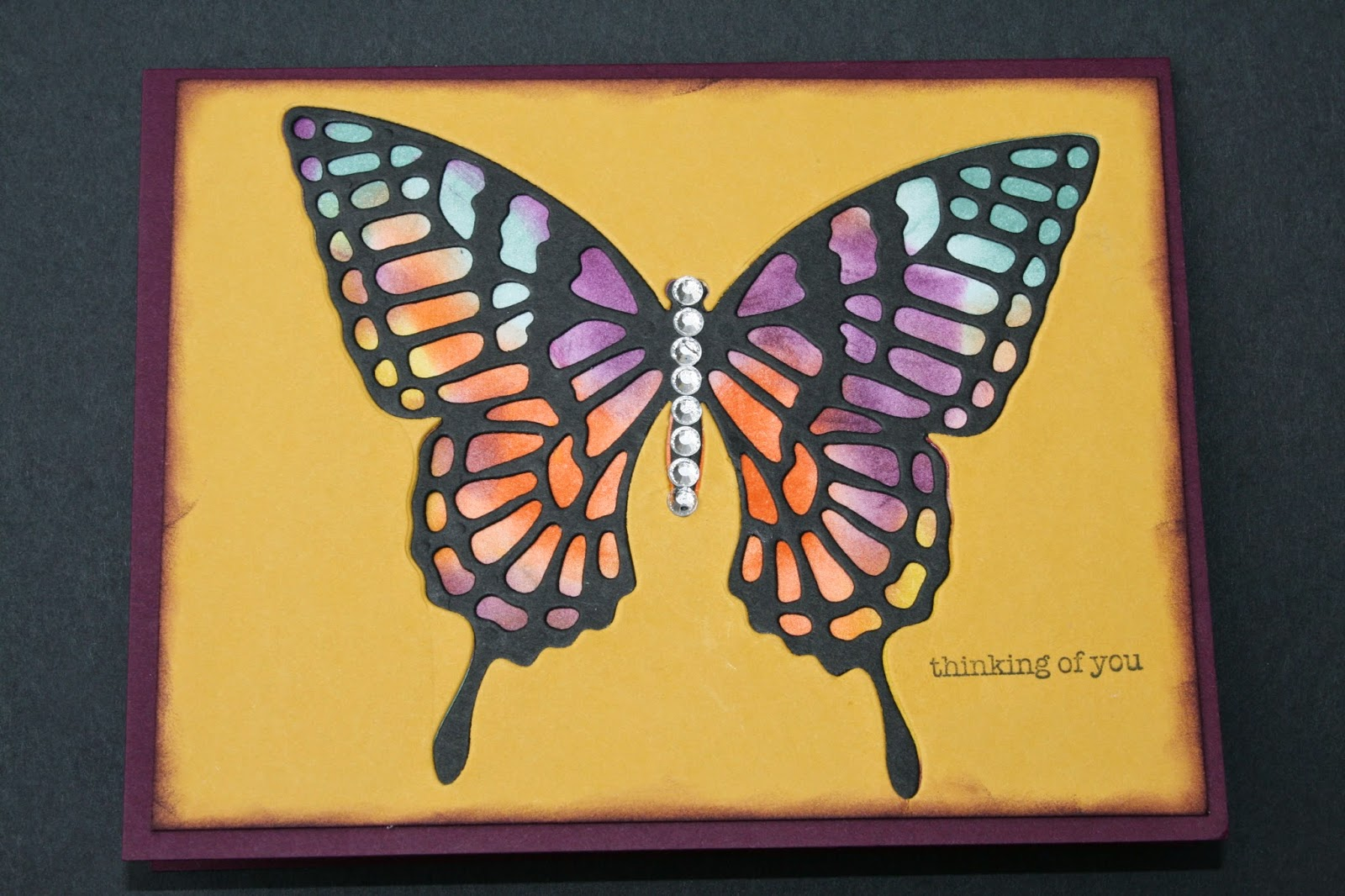 Thinking of You using Butterfly and Inlay technique