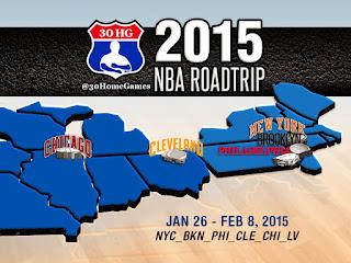 nba roadtrip, nba map, new york knicks