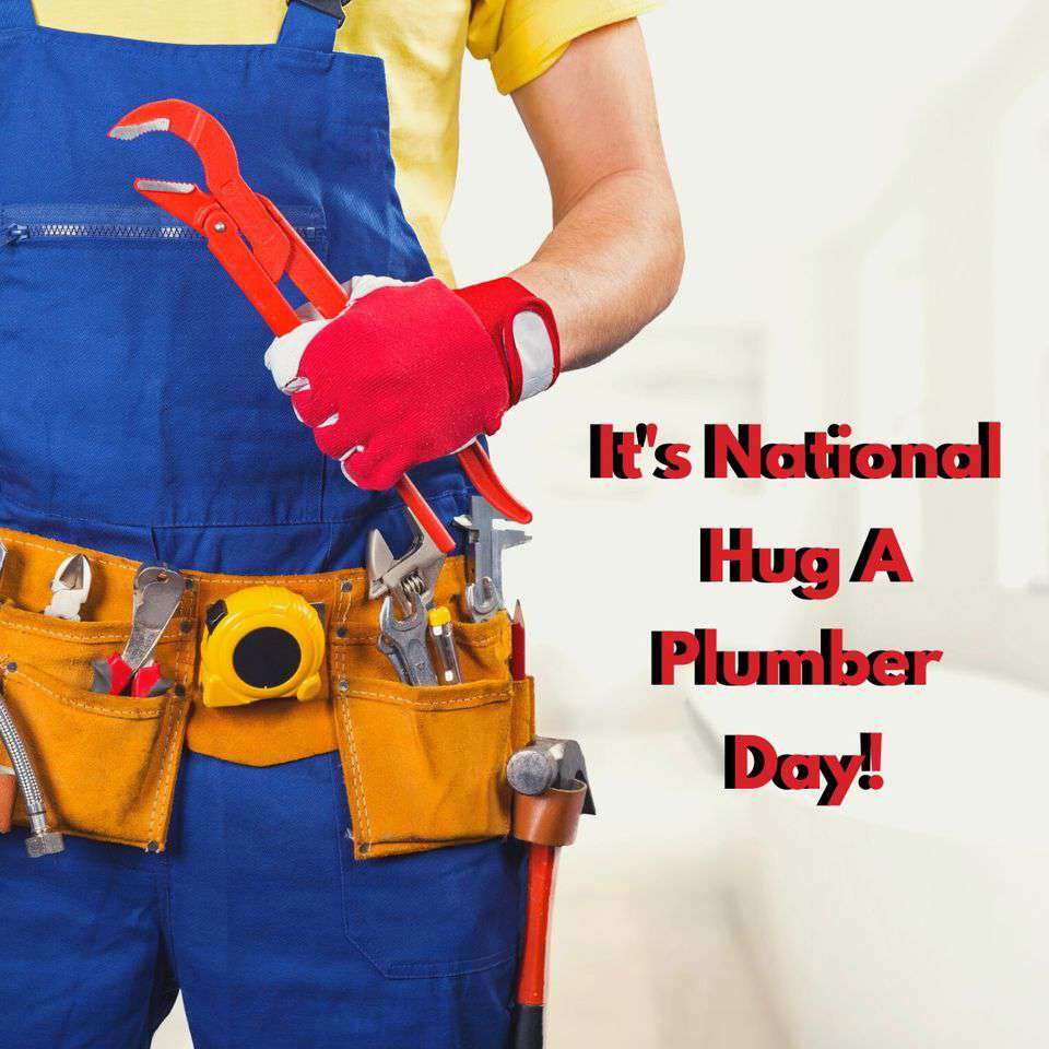 National Hug a Plumber Day Wishes Unique Image
