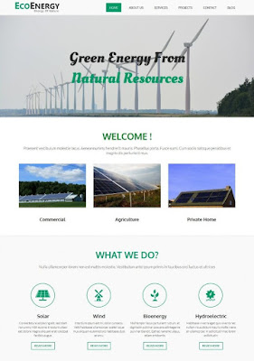Eco Friendly Energy Blogger Template