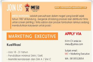 Lowongan Kerja Bandung Marketing Executive Imesu Sablon Bandung