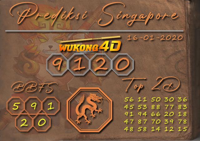 Prediksi Togel SINGAPORE WUKONG4D 16 JANUARI 2020
