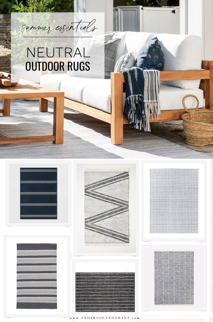 Neutral outdoor rugs