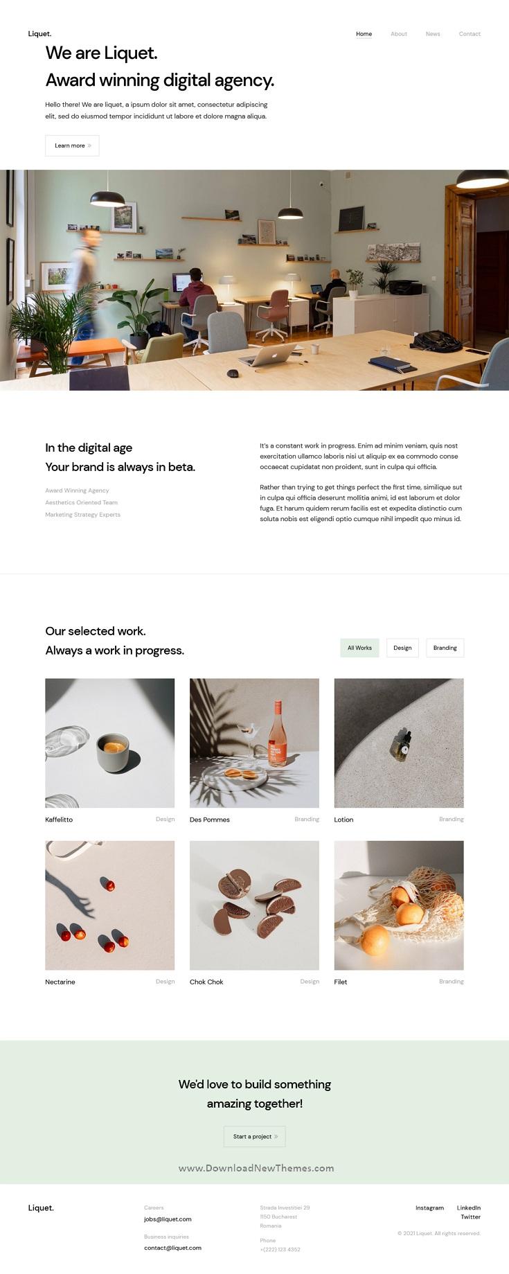 React Creative/Portfolio Template