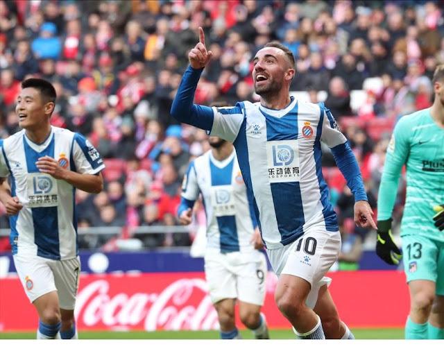 اتليتكو مدريد يفوز علي اسبانيول بثلاثة اهداف لهدف في الدوري الاسباني
