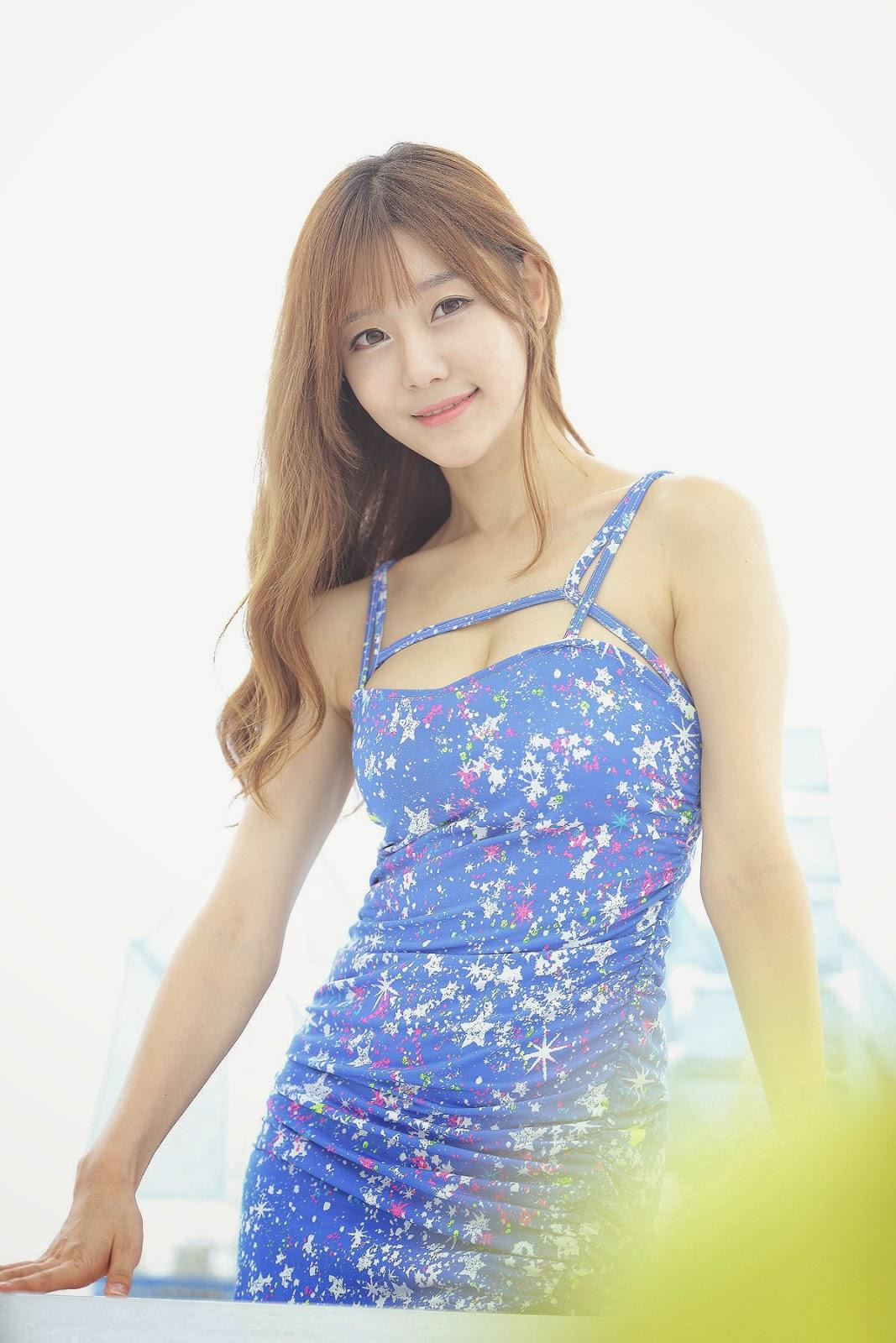 Choi Seul Ki - Lovely Seul Ki In Blue Dress-5225