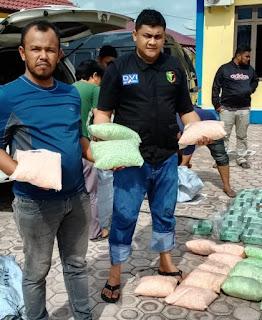 Selain Tersangka Polisi Amankan 81 Kg Sabu dan 10 Ribu Pil Inex di Aceh Timur