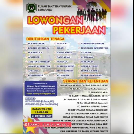 Loker Fisioterapi Loker Fisioterapi Oktober 2019