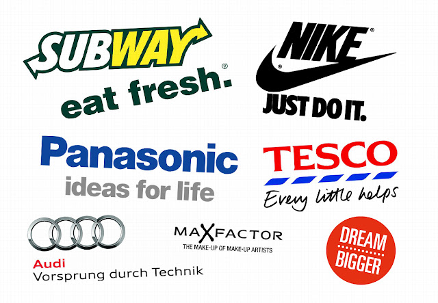 Collection of Slogans of companies