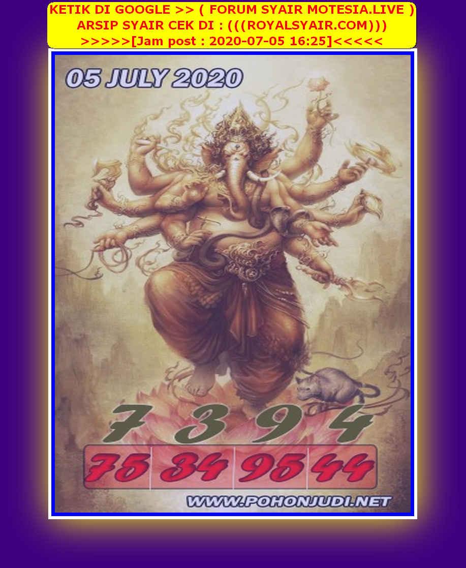 Kode syair Hongkong Minggu 5 Juli 2020 143