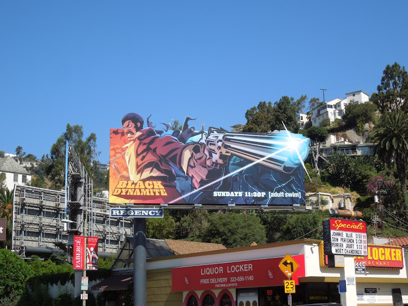 Black Dynamite animated series billboard