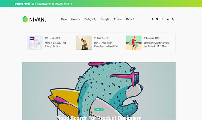 Nivan Blogger Template free Download for Blogger