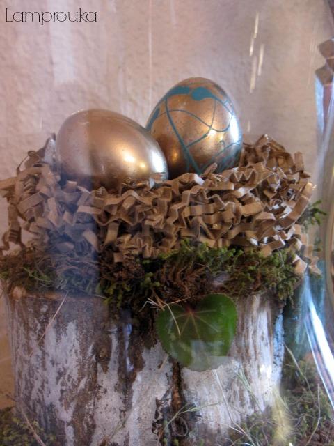 Αυγά σε φωλιά.