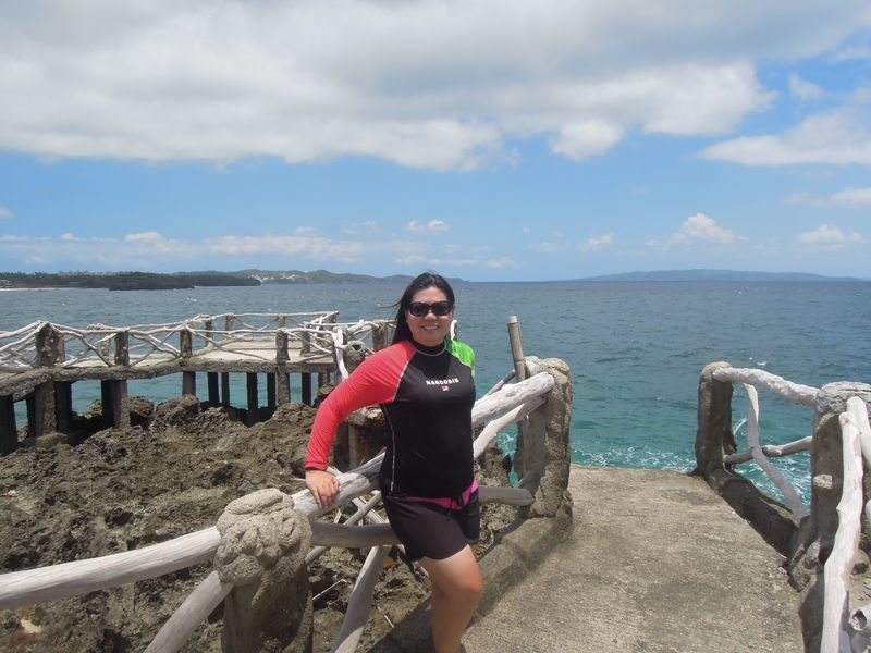 Enjoying the view at Crystal Cove in Boracay