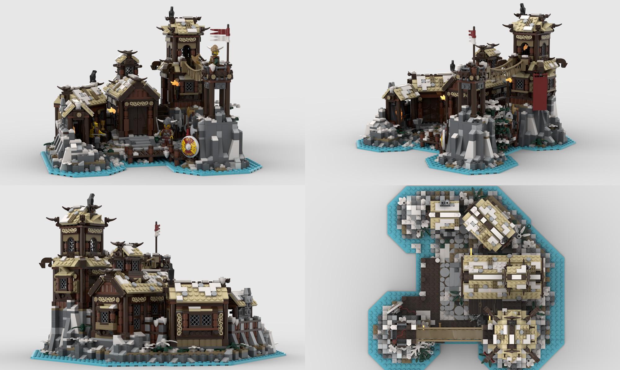 レゴアイデアで『ヴァイキングの村』が製品化レビュー進出!2020年第3回1万サポート獲得デザイン紹介