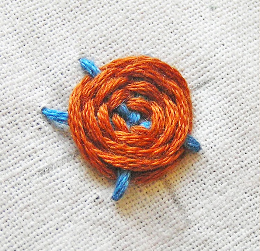Mẫu thêu mũi Woven Spider Wheel