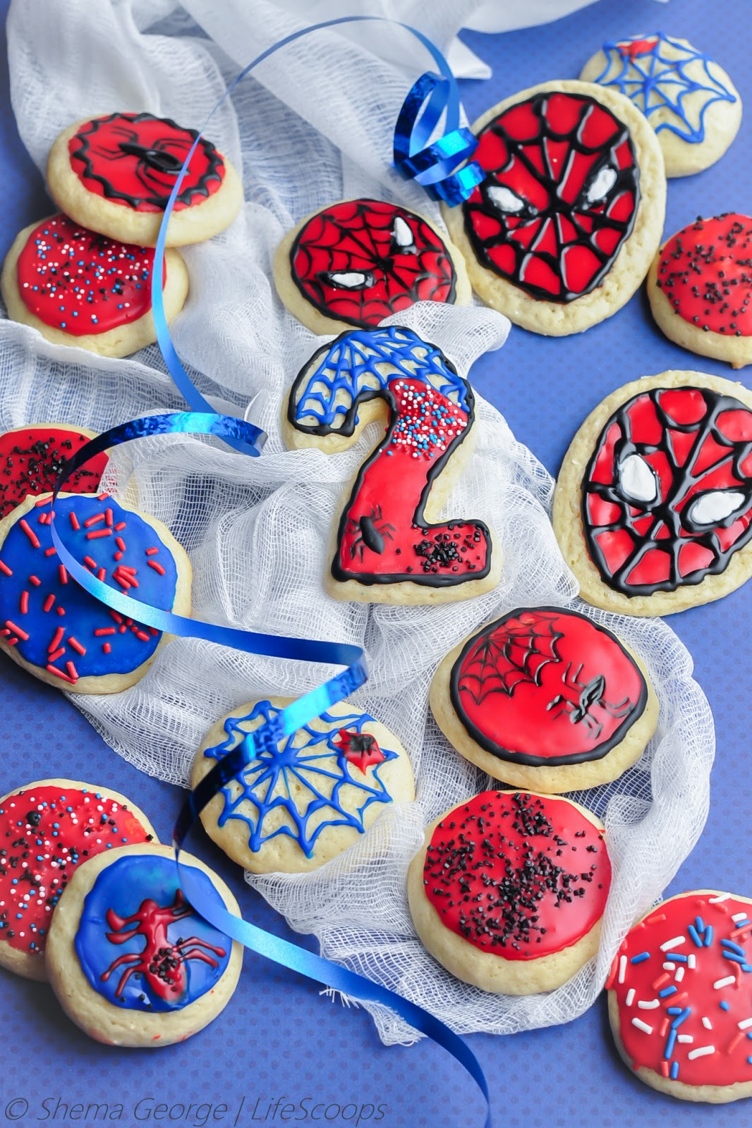 Spiderman Cookie Birthday Cake