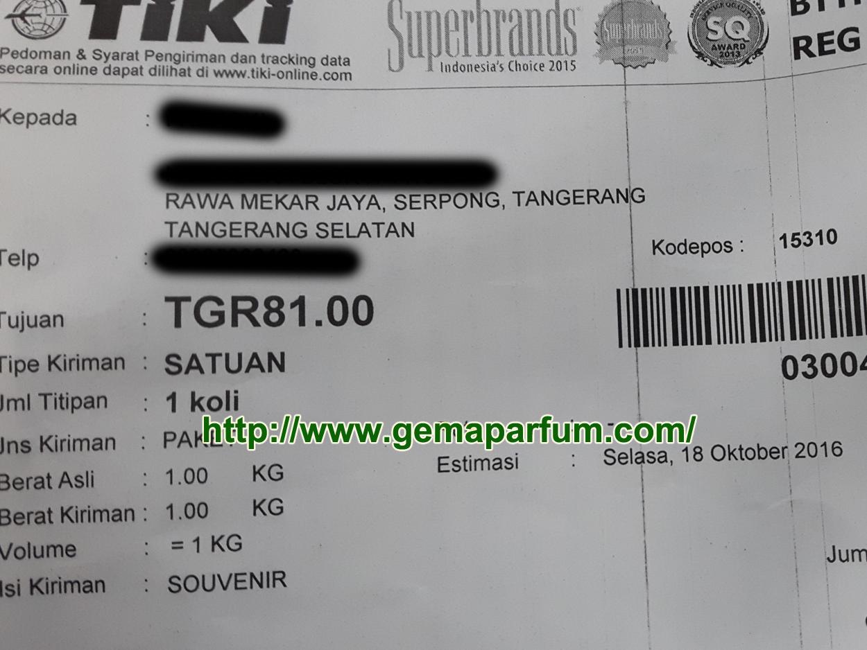 Pengiriman parfum ke Tangerang