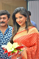 Sakshi Agarwal  in Orange Saree at Inauguration of Handloom And Handicraft exhibition ~  Exclusive 35.JPG