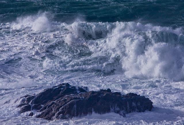 Huge Seas, Rocks, Rough Sea, Waves, Whitewater