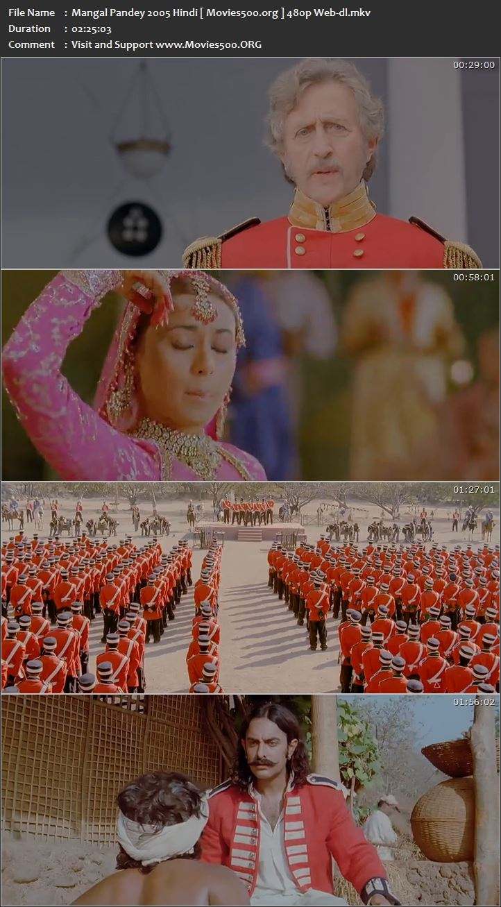Mangal Pandey 2005 Bollywood 400MB WEB DL 480p at movies500.info