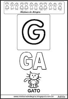 Cartaz das famílias silábicas do G