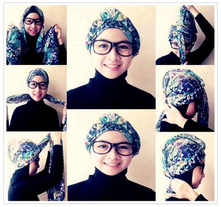 Gambar Tutorial Hijab Untuk Yang Berkacamata Terbaru 2016