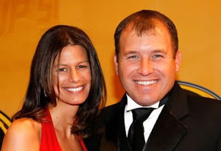Ryan Newman And His Wife Krissie Newman At An Award Ceremony